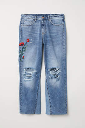 H&M H&M+ Kickflare High Jeans - Blue