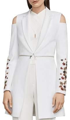 BCBGMAXAZRIA Sandrah Embroidered Cold-Shoulder Blazer