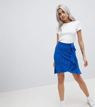Asos Mini Wrap Skirt in Polka Dot Print