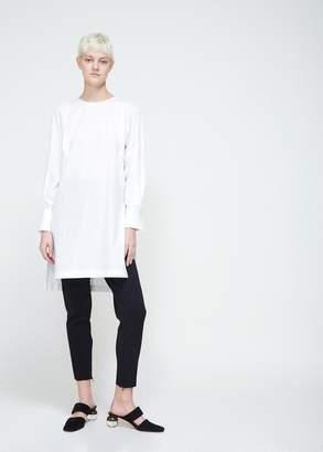 TOMORROWLAND White & Standard Collarless Dress