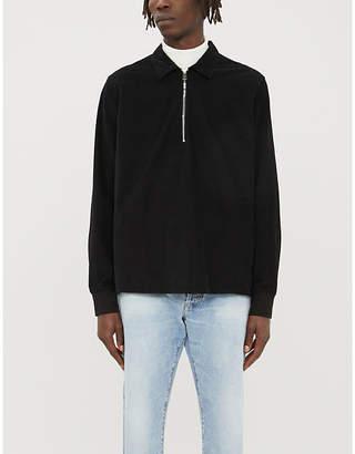 Paul Smith Zip-neck stretch-cotton corduroy jacket