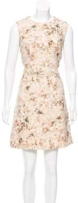 Chloé Virgin Wool Floral Print Dress