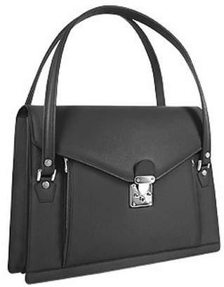 L.a.p.a. Double Compartment Calf Leather Women's Briefcase