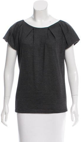 Christian Dior Wool Pleated Top
