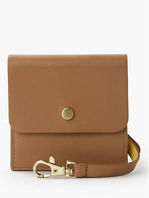 2442c9d73 John Lewis & Partners Thea Leather Square Card & Coin Purse