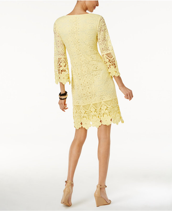 Alfani Crochet-Trim Illusion Dress, Only at Macy's 2