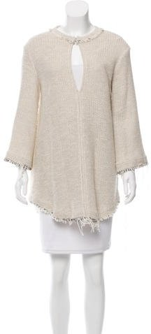 IROIro Fringe-Trimmed Crocheted Tunic