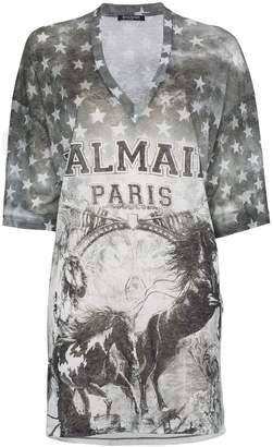 Balmain Horse Logo T-Shirt