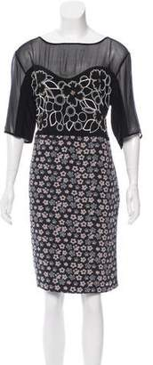 Megan Park Silk Embellished Dress w/ Tags