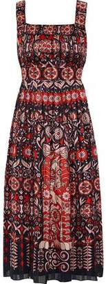 Anna Sui Printed Jacquard Midi Dress