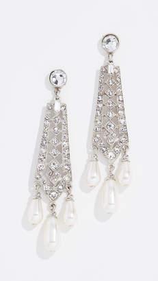 Ben-Amun Crystal and Imitation Pearl Drop Earrings