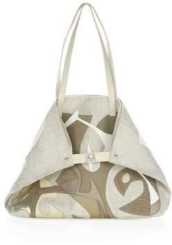 Akris Medium Leather Shoulder Bag