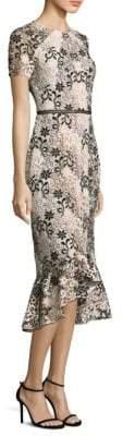 Shoshanna Floral Swirl Edgecombe Trumpet Dress