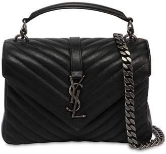 Saint Laurent Medium College Monogram Leather Bag