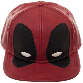 2430e849 Bioworld Marvel Comics Deadpool Big Face PU Cut Fabric Faux Leather Snapback  Hat