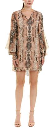 Haute Hippie Rock And Roll Silk Shift Dress