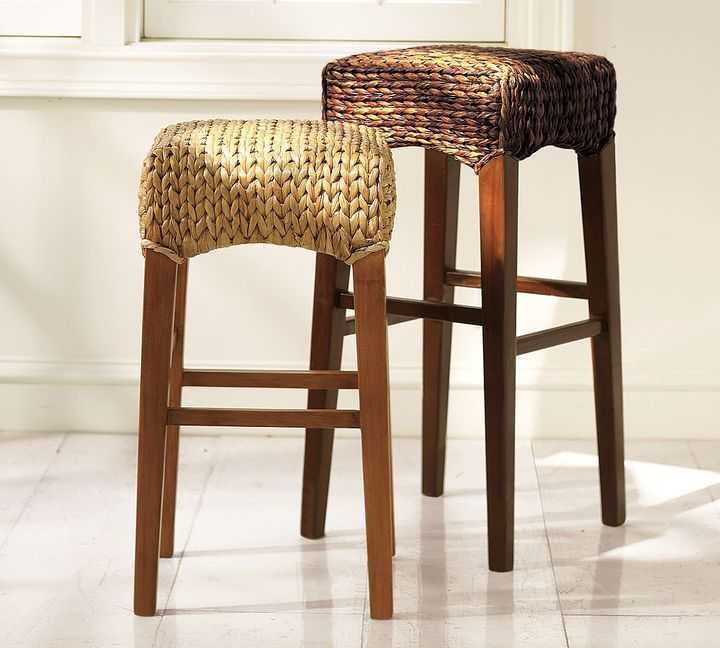 Seagrass Backless Barstool