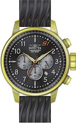 Invicta Men's 'S1 Rally' Quartz Gold-Tone and Silicone Casual Watch