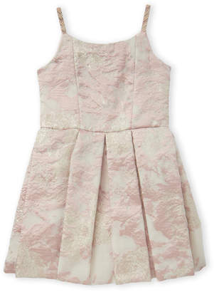 Zoë Ltd Girls 7-16) Pink & White Pleated Dress