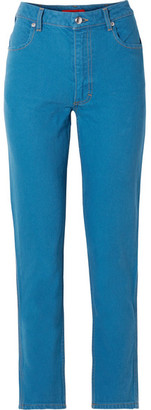 Eckhaus Latta El High-rise Straight-leg Jeans - Blue