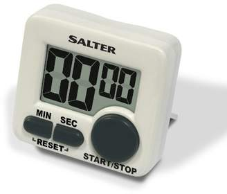 Salter Mini Kitchen Cooks Timer – Electronic Digital Clock, Cooking Countdown Device for Precision Baking, 99 minutes 59 seconds, Large Start/Stop Button, Loud Long Ring Beeper – 2 Year Guarantee