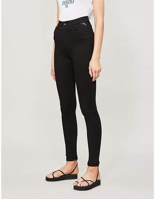 Replay Leyla branded-patch skinny high-rise jeans