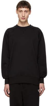 Y-3 Black Back Logo Classic Crew Sweatshirt
