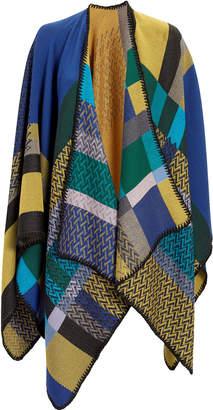 Missoni Usa Mixed Knit Print Cape