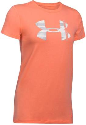 Under Armour Women's Big Logo Metallic Short Sleeve Graphic Tee