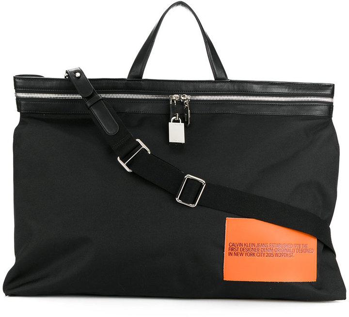 Calvin Klein patch detail tote bag