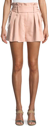 IRO Lalora High-Waist Lace-Up Shorts