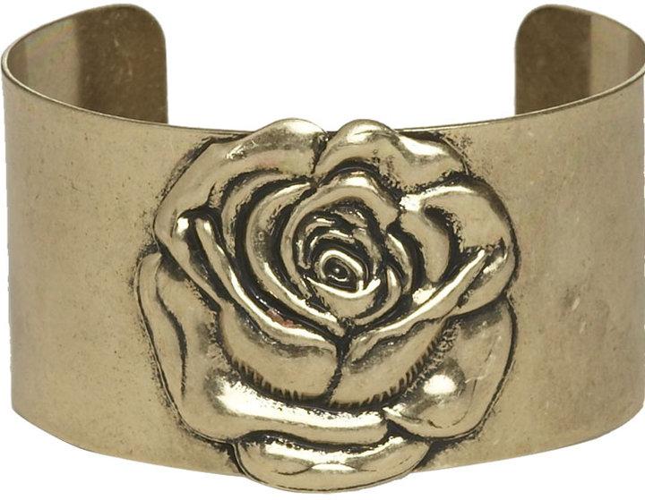 Metal Rose Cuff