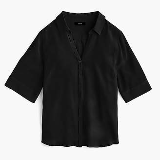 J.Crew Short-sleeve button-up shirt in silk