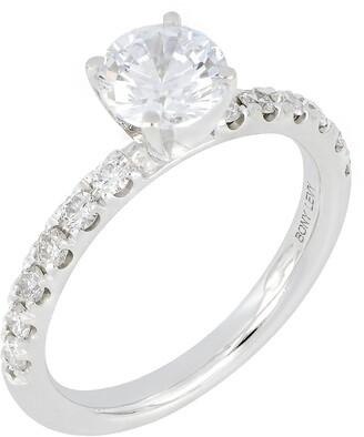 Bony Levy Pave Diamond Round Engagement Ring Setting