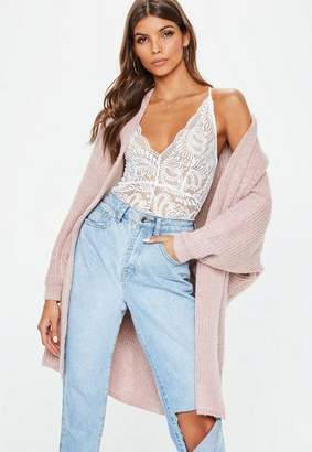 Missguided Nude Oversized Batwing Knit Cardigan