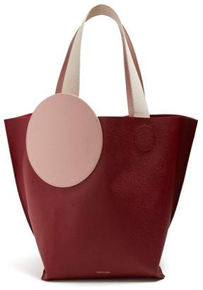 Roksanda Eider Pebbled Leather Tote - Womens - Burgundy Multi
