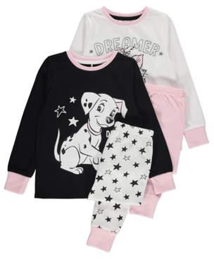 CAT George Disney 101 Dalmatians and The Aristocats Pyjamas 2 Pack