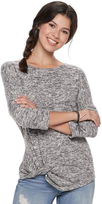 Miss Chievous Juniors' Cozy Twist-Front Top