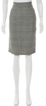 Milly Wool Houndstooth Skirt