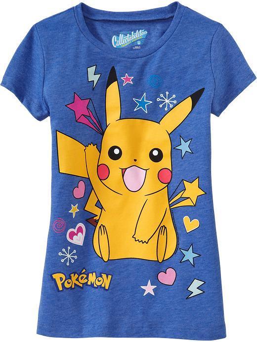 Pokemon Girls Pikachu Tees