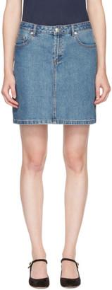 A.P.C. Indigo Denim Standard Miniskirt $125 thestylecure.com