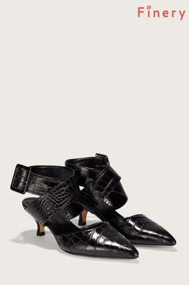 Next Womens Finery London Black Jenni Snake Print Ankle Strap Shoe