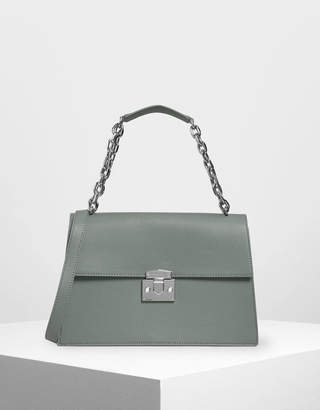 Charles & Keith Chain Strap Classic Shoulder Bag