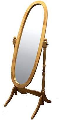 Ore International ORE International Wooden Cheval Floor Mirror, Natural Oak