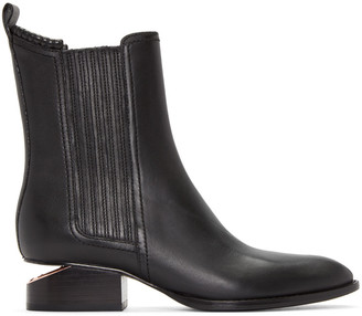 Alexander Wang Black Anouck Ankle Boots $620 thestylecure.com