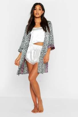 boohoo Ombre Leopard Kimono Robe