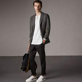 Burberry Soho Fit Cotton Wool Jersey Tailored Jacket
