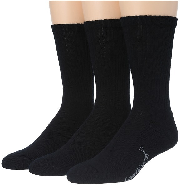 Smartwool - Heathered Rib 3-Pair Pack Men's Crew Cut Socks Shoes