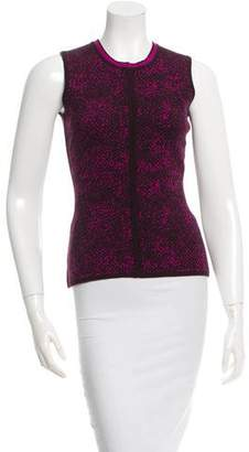Narciso Rodriguez Patterned Sleeveless Top