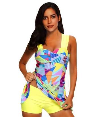 047cb4a17a8ff Bonvince Tankini Swimsuits for Women